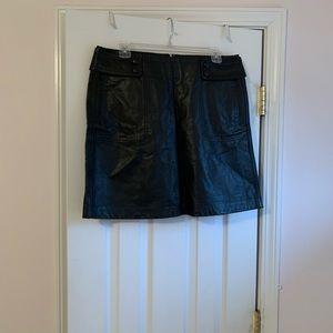 Timmy Hilfiger black leather mini skirt